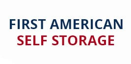 Logo for First American Self Storage in Antelope, CA